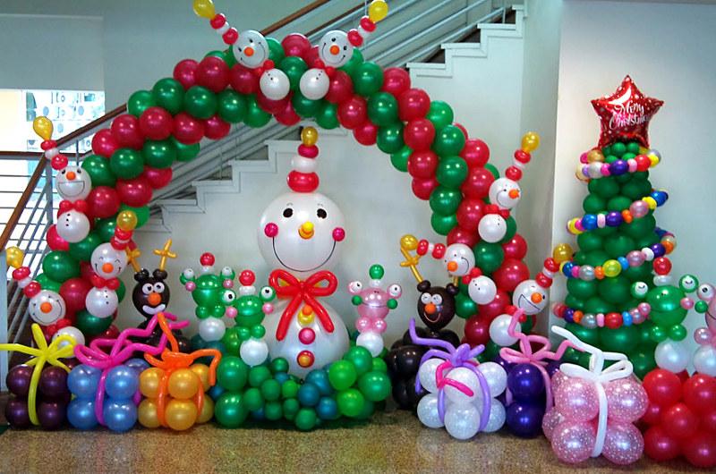Новый год украшение шариками